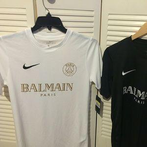 Nike X Balmain White Dri Fit Jersey